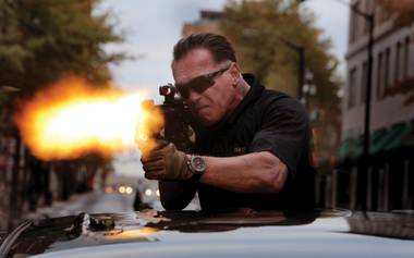Arnold heads up a squad of badass DEA agents who steal $10 million from a drug cartel.