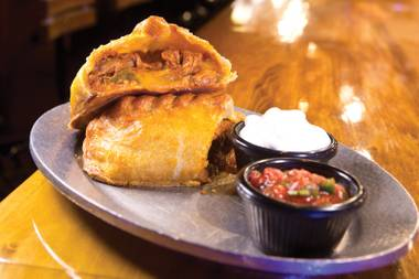 Jim Begley recommends Cornish Pasty Company's Carne Adovada pasty, combining New Mexican red pork stew with rice, Hatch chilies and cheddar cheese.