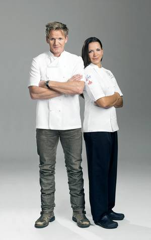 Gordon Ramsay and Christina Wilson.