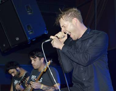 Vocalist George Clarke and Deafheaven, performing Saturday night at LVCS.