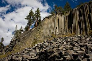 Nature's fortress: Devils Postpile was created by a lava lake—not the Prince of Darkness.