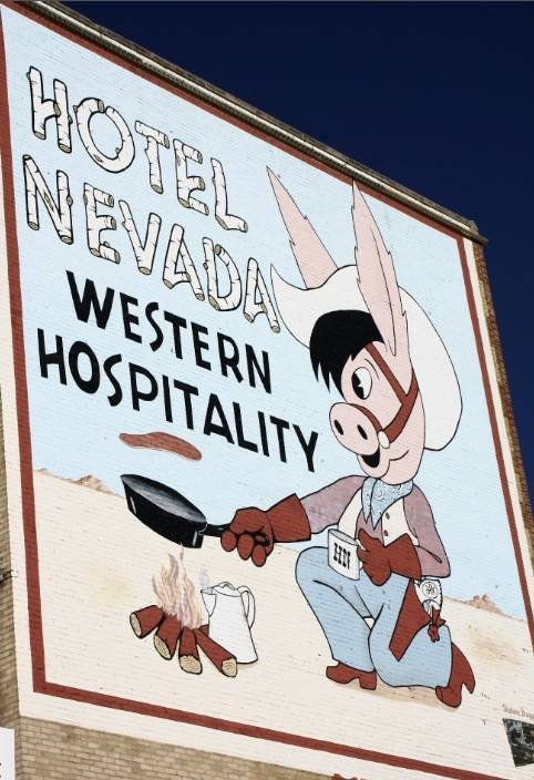 Hotel Nevada has many historic charms, inside and out.