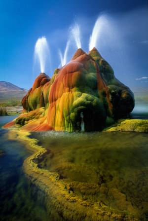 Not a mirage: The Fly Geyser has to be seen to truly be believed.