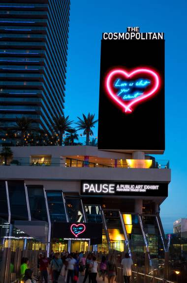 The artist's I Promise to Love You is at the Cosmopolitan