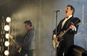 Paul Westerberg (right) and Tommy Stinson of The Replacements played their fourth reunited show at Coachella 2014 Day 1.
