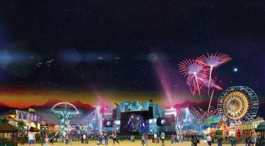MGM—with the help of businessman Ron Burkle—is building the event's internationally themed City of Rock, comprising six stages (including one featuring local talent) and more than 70 food and shopping vendors.