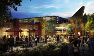 The Park re-envisions Las Vegas' traditional pedestrian experience.