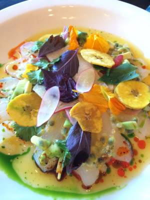 Chef James Trees' snapper ceviche was a standout appetizer at MTO Café's Mexican-themed Sunday Night Supper Series event on April 27.