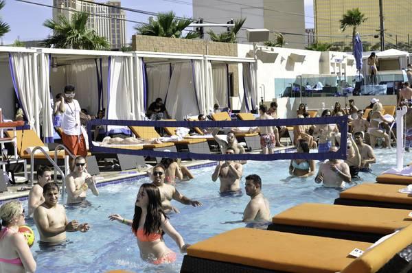 Sapphire Pool Says Goodbye To Bikini Tops Las Vegas Sun