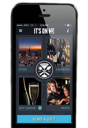 The ItsOnMe mobile gifting app.