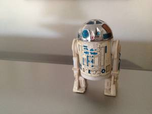 This R2-D2 toy is from way back, a present to Glen Toussaint on his 6th birthday, after the first <em>Star Wars</em> film blew the world's mind.