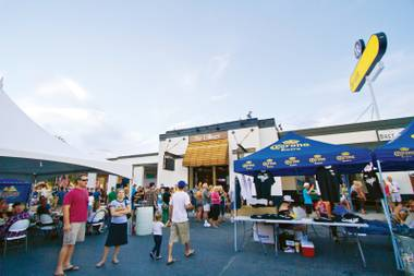 Find fresh air, live local music and a beer-drinking contest at the BC bash.