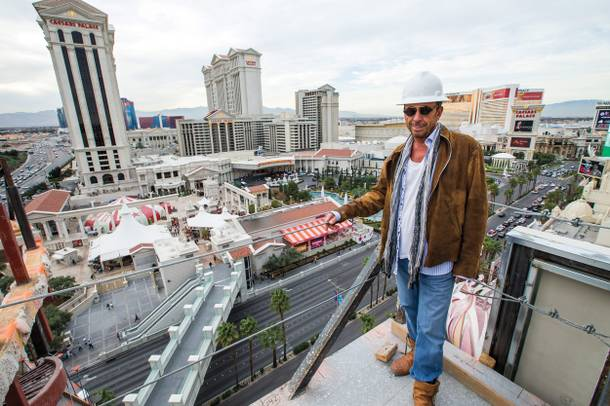 Man of many visions: Drai, overlooking the Strip during the construction of his Beach Club and Nightclub.