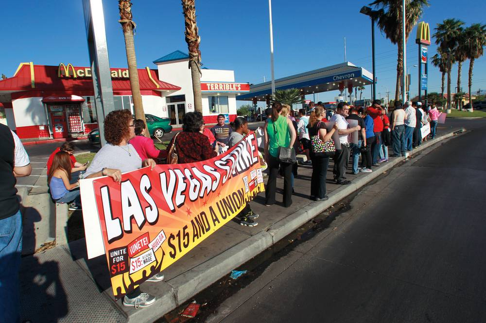 Fast Food Workers Are Striking For A Higher Minimum Wage Las Vegas
