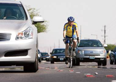 Riding at risk: Henderson and Las Vegas received bike-friendly honors recently, but cyclist deaths were actually up in Clark County in 2013.