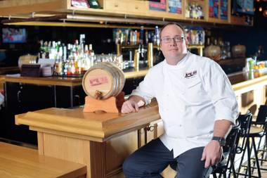 The chef at Michael Mina's Pub 1842 recommends the bacon cheeseburger.