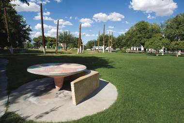 Huntridge Circle Park was shut down in 2006 by the city because of safety issues involving the homeless, but was reopened in 2011.