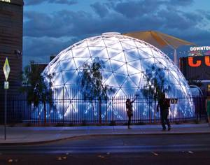 The dome at Container Park.