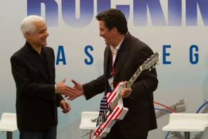 Rock in Rio Owner/Founder Roberto Medina (left) and MGM Resorts International President Bill Hornbuckle.