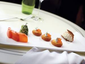 DB Brasserie's amazing smoked fish duo, salmon and sable <em>rillettes</em>.