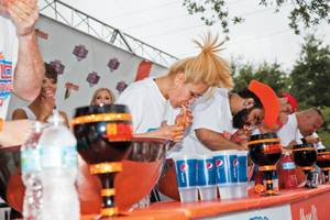 Modern day circus: Miki Sudo's career in competitive eating started with a dare in Chinatown and a massive bowl of soup.