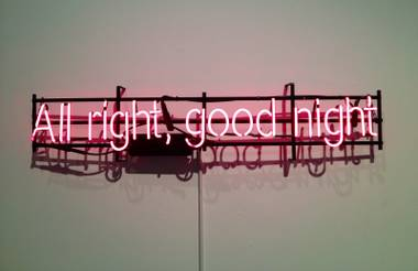 The local artist recreates today's text messages in neon signage.