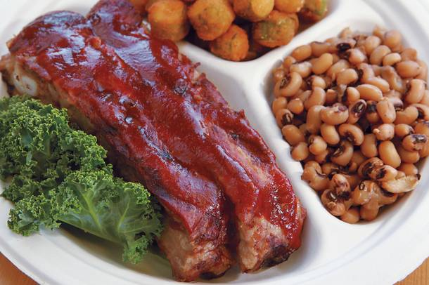 Meaty pork ribs with sweet barbecue sauce are a longtime favorite at H&H.