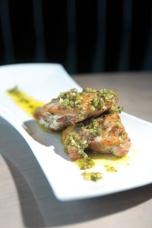 Carson Kitchen's chimichurri chicken thighs.