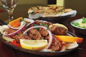 India Palace's lamb seekh kebab.