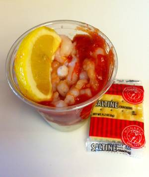 Haute Doggery's 99-cent shrimp cocktail.