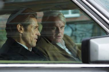 Philip Seymour Hoffman, seen here with Willem Dafoe, gives a solid performance in his final starring role in A Most Wanted Man.