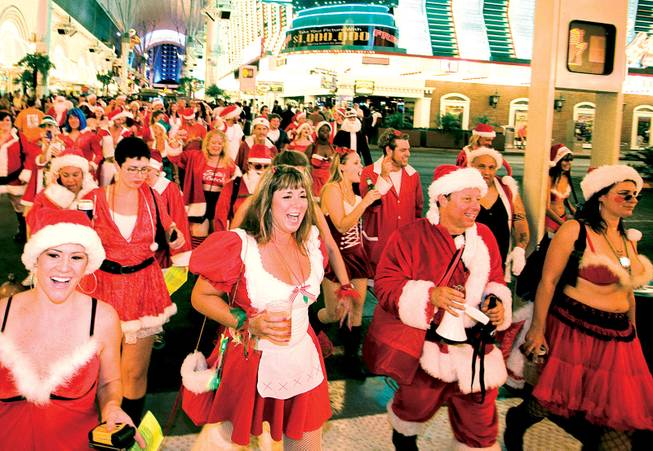 What do you get when you combine a hot night, a bunch of Santas and a lot of booze? The Summer Santa Rampage.