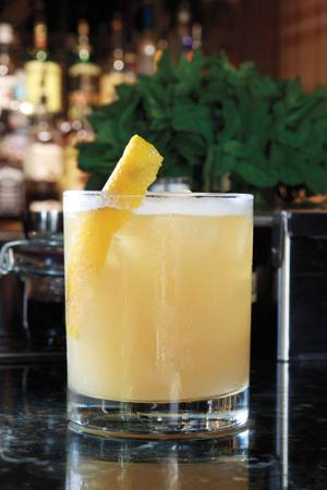 "The ""Ocean-Going Spaniard,"" a cocktail made on the fly exclusively for <em>Weekly</em> editor Ken Miller."