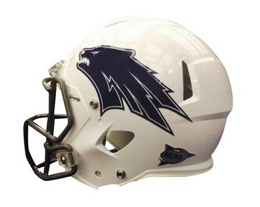 The latest helmet for UNR's Wolf Pack football team.