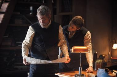 Jeff Bridges imparts wisdom to Brenton Thwaites in the just so-so The Giver.