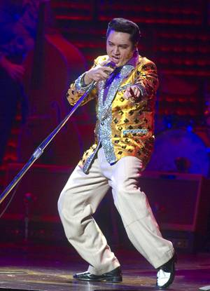 "Justin Shandor performs as Elvis Presley in ""Million Dollar Quartet"" at Harrah's."