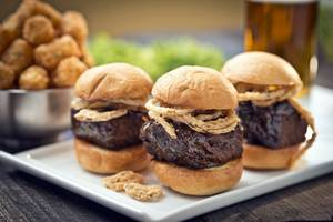 Carson Kitchen's short rib sliders.