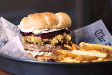 The Turkeygiving Burger should be crowned Vegas' quintessential Thanksgiving-inspired dish.