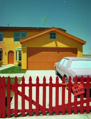 Las Vegas got a life-size replica of <em>The Simpsons</em> family residence in 1997. The home has since been painted in a more more subtle color scheme.