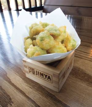 Crispy tempura Brussels sprouts are a perfect snack at Jinya.