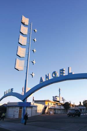 File photo of the Blue Angel prior to the new paint job advertising the nightclub.