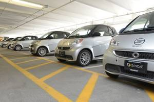 Shift's fleet of Smart cars