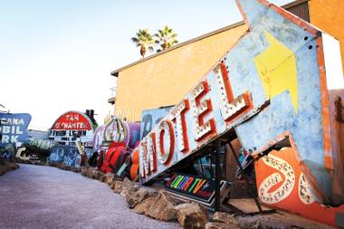 It's not all about the neon. Unsigned Heroes: Sign Painters' Art and Stories at the Neon Museum on September 16 highlights an overlooked art form.