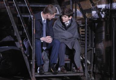 Batman begins: McKenzie's Gordon has a heart-to-heart with young Bruce Wayne in Gotham.
