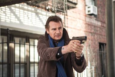 Liam Neeson stars in A Walk Among the Tombstones.