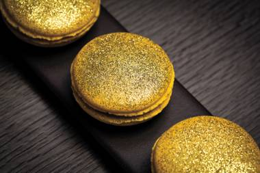Not your average cookie: Get ready for golden macarons at Hakkasan.