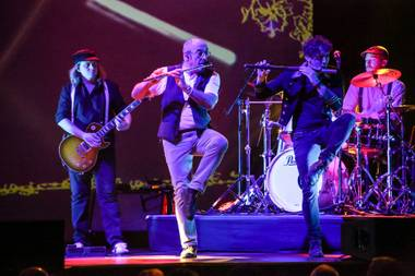 Ian Anderson and his band, performing September 19 at the Pearl.