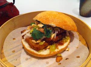 Ku Noodle's pork belly bao.