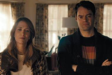 Depressed duo: Hader and Wiig contemplate the meaninglessness of life in The Skeleton Twins.
