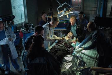 Barry (Grant Gustin) gets medical attention after his mysterious accident.